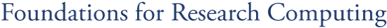 Foundations for Research Computing logo